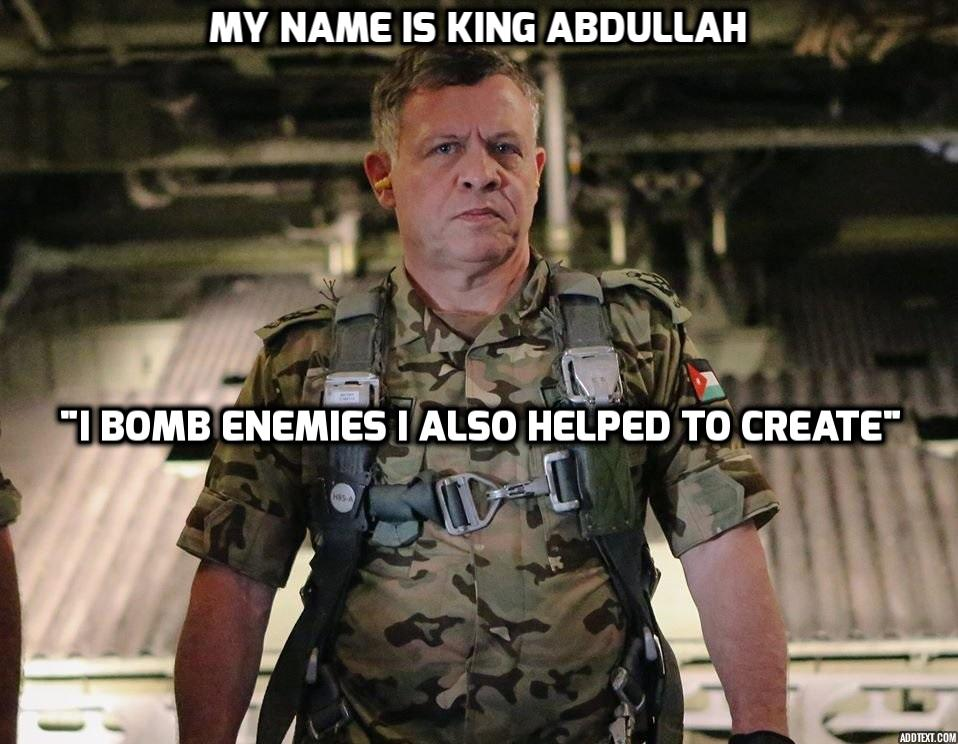 Jordanian King Condemns ISIS While Helping CIA Build Them