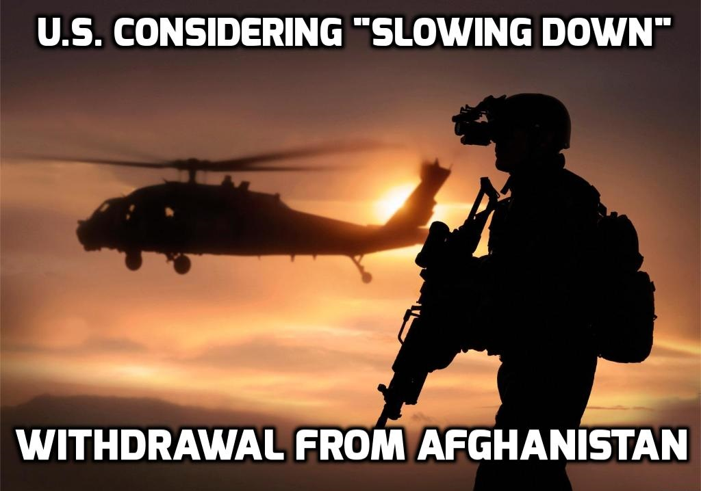 Pentagon chief: US considering slowing exit from Afghanistan