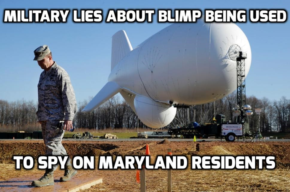 U.S. Army Lies About Using Giant Blimp To Monitor Maryland Residents
