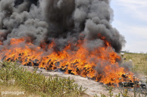 Police Burn 3.3-Ton Pile Of Cannabis And Get An Entire Town High