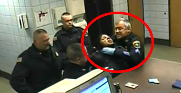 "This Cop's Department said he ""Acted Admirably"" When he Strangled Non-Violent Handcuffed Woman"