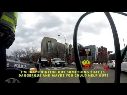 Cop blatantly tells cyclist that he doesn't care about public safety