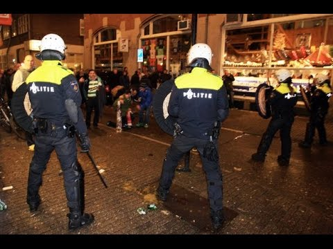 Cops Punch And Arrest Man For Talking In Amsterdam