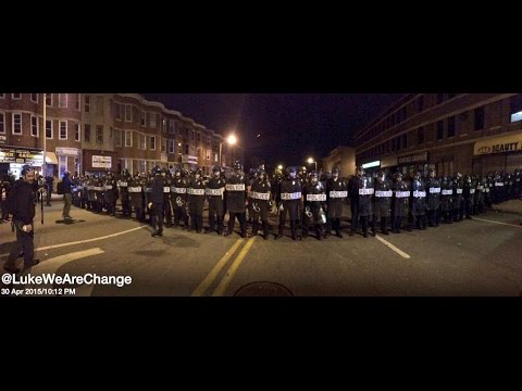 Baltimore Riot Police Kidnap Activist During Curfew