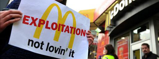 Thousands of Workers Shut Down McDonald's Headquarters