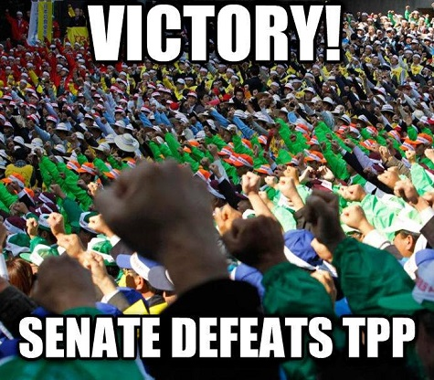 Senate votes against fast-tracking TPP