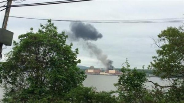 A large explosion rocked the Indian Point nuclear plant in New York on Saturday, the facility's management reported.