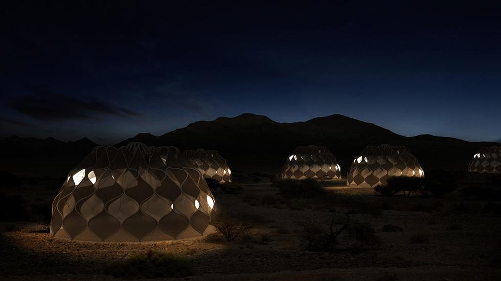 These awesome tents get solar power, can harvest water and fold up