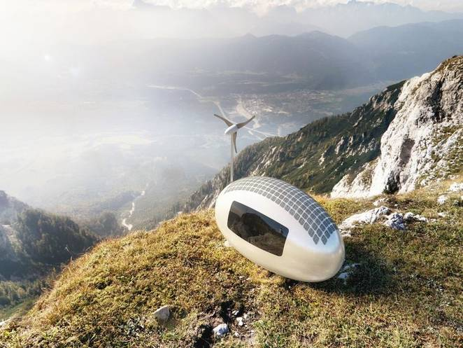 Ecocapsule is the egg-shaped tiny home that can go off-grid ANYWHERE