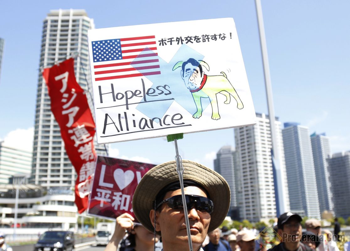 Protests Erupt in Japan over Anti-Constitutional Militarization Against China