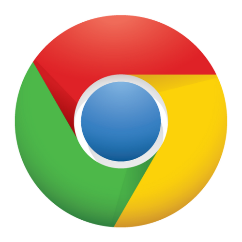 Chrome logo with white background