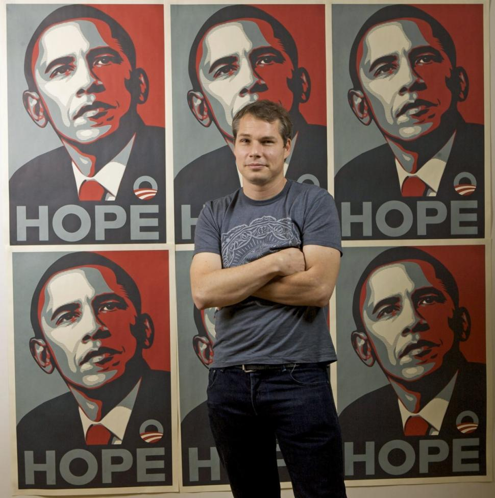 Artist behind iconic Obama campaign 'Hope' poster says President is 'not even close' to living up to ideals