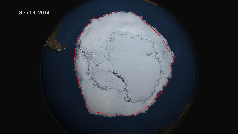 Antarctic Sea Ice Reaches New Record Maximum