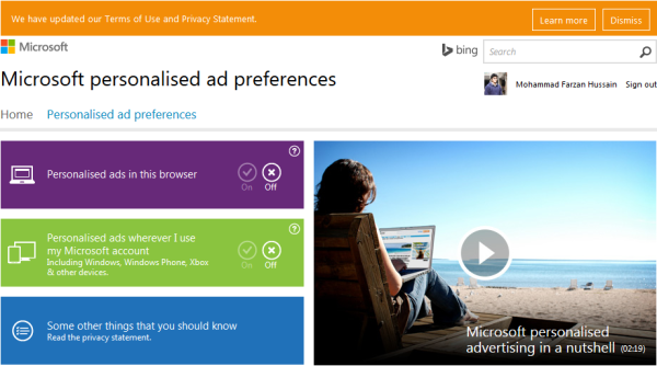 Microsoft-personalised-ad-preferences