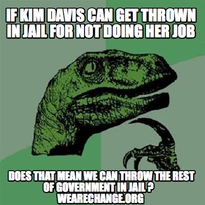 Kim Davis elephant in the room.