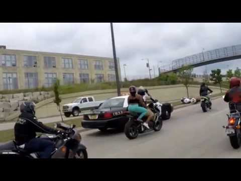 Cop runs motorcyclists off the road, blames the bikers.