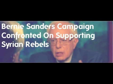 Bernie Sanders Campaign Confronted On Supporting Syrian Rebels