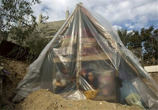 Nearly 100,000 Gazans Spend Winter In Tents, Animal Shelters.