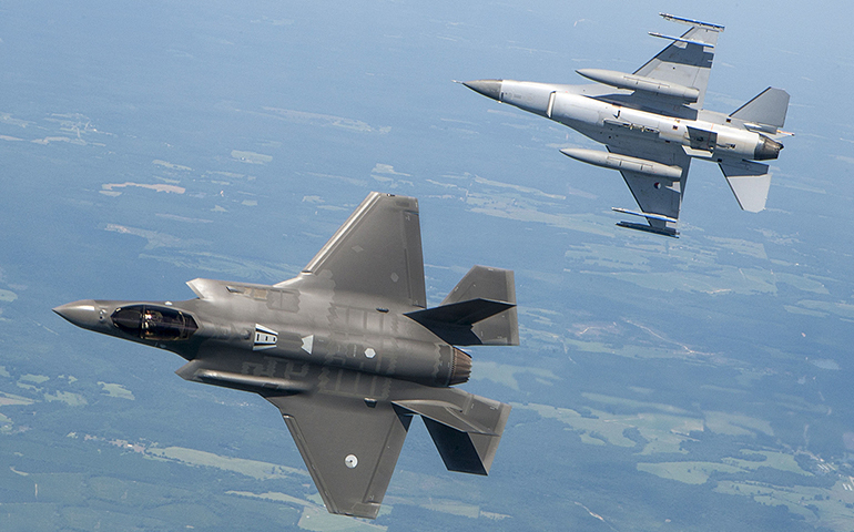 The F-35 can't beat the plane its replacing in a dogfight : report