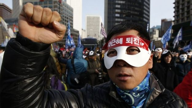 South Korea protests: Seoul rally against Park Geun-hye