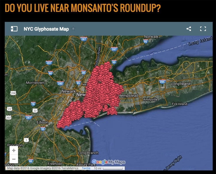 Interactive Map Shows Where Monsanto's Roundup Is Sprayed in New York City
