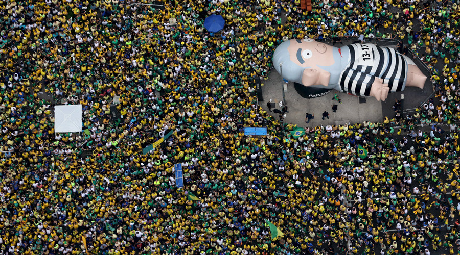 Brazil's largest ever anti-government protest draws 3 million people to the streets