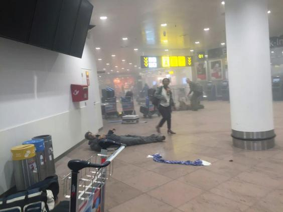Brussels attacks: video purported to show Zaventem airport explosion show in 2011