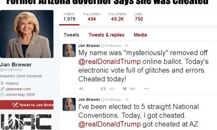 Former Arizona Gov. Says Trump was Cheated