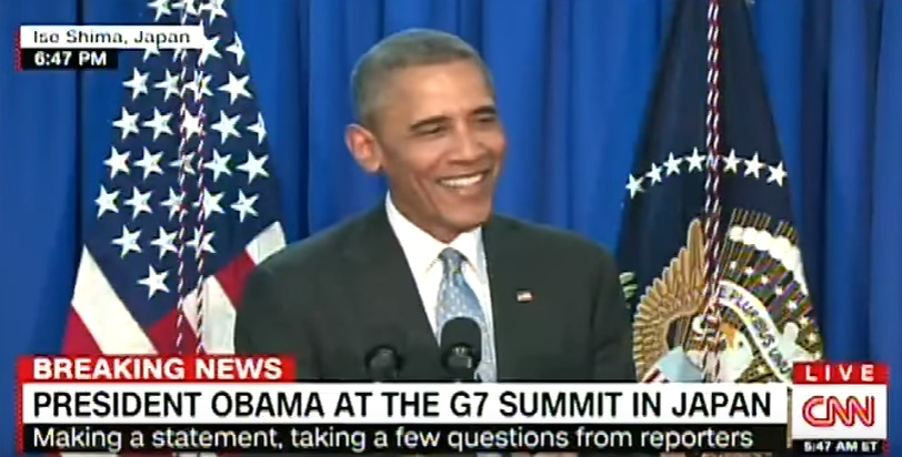 Video: Obama Refuses to Answer Questions About Clinton Controversies at G7 Summit
