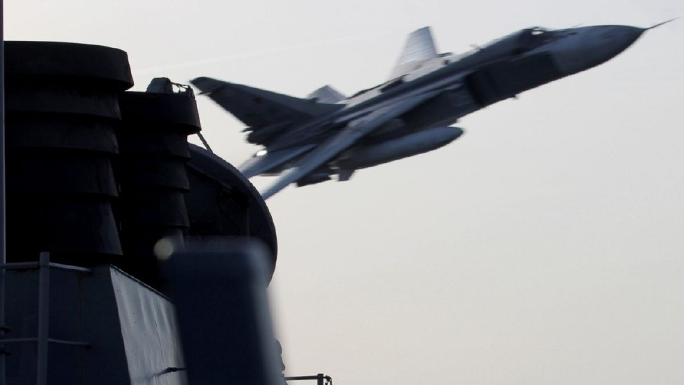 Russian Fighter Barrel Rolls Over U.S. Air Force Plane