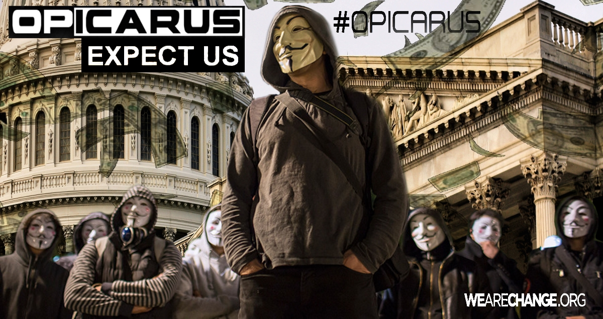 #OpIcarus Anonymous Targets Central Banks and Financial Sector