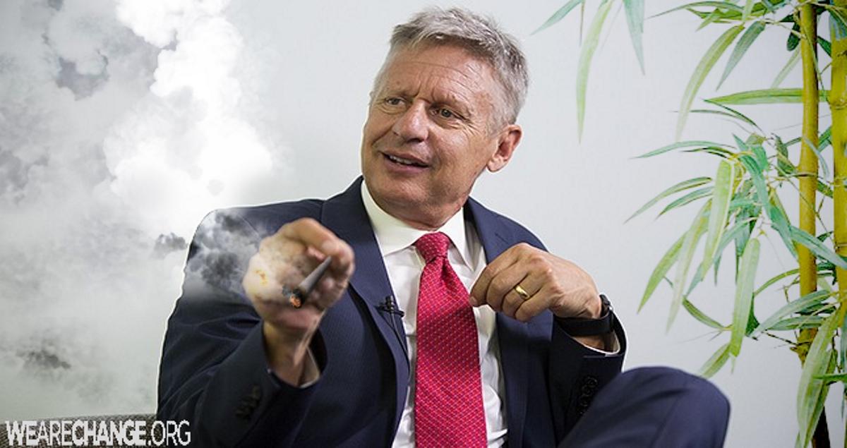 Gary Johnson stopped using marijuana for White House bid