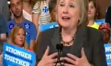 "Hillary Reads ""Sigh"" in Her Speech — Oops!"