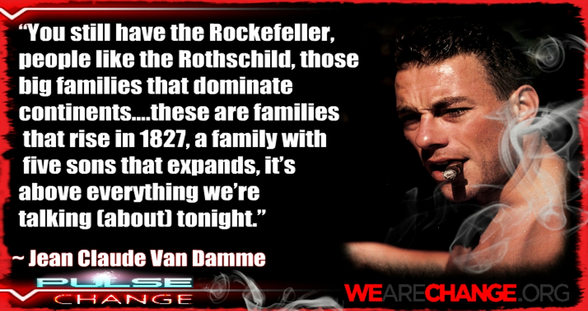 Jean Claude Van Damme calls out Rothschild and Rockefeller on live TV