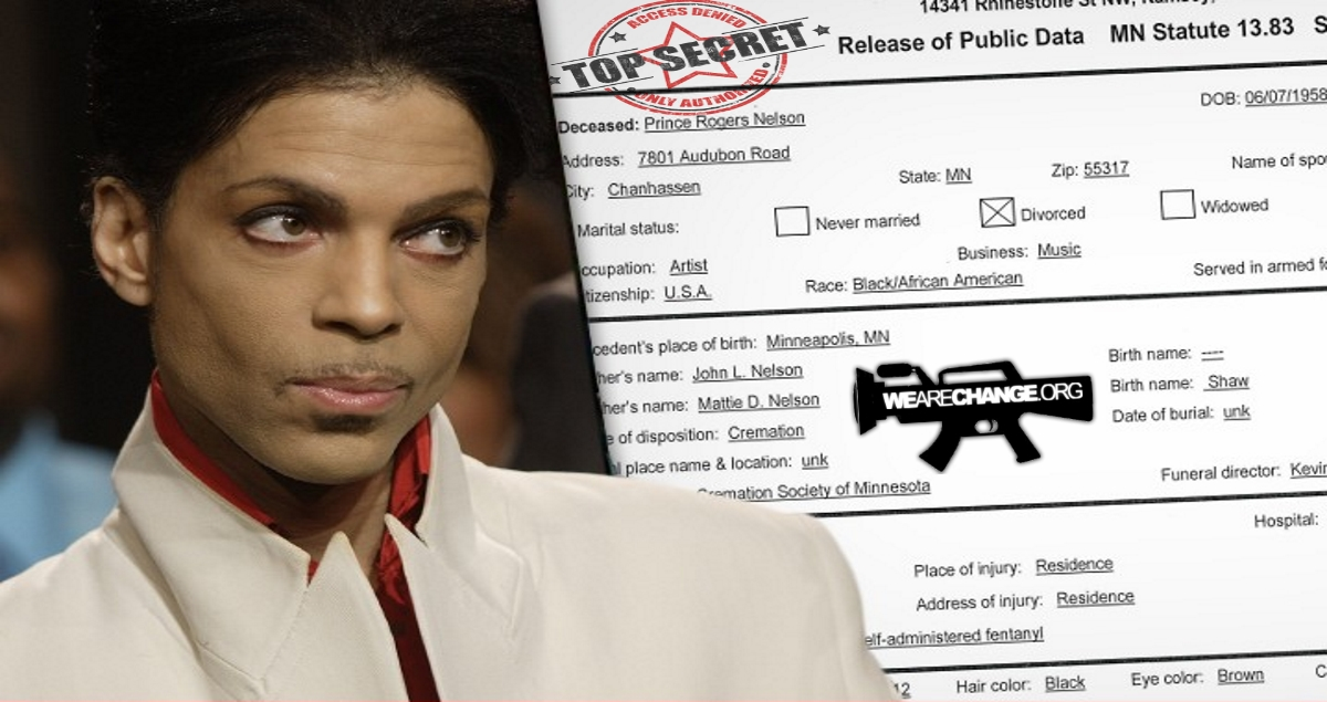 Leaked Test Results Prince died of 'Opiate Overdose'!!