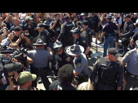 Violent Arrests and Injury at the RNC During Flag Burning