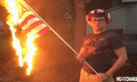 Police Arrest Man For Burning US Flag On His Own Property