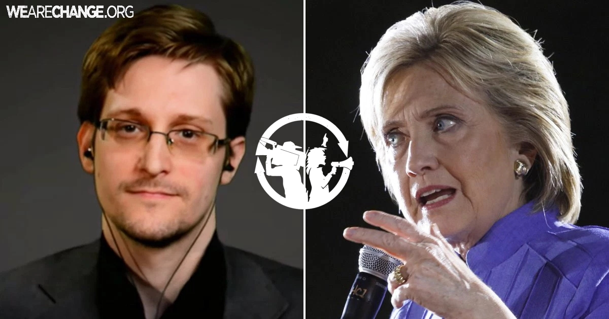 Edward Snowden Responds to FBI Decision Not To Indict Hillary