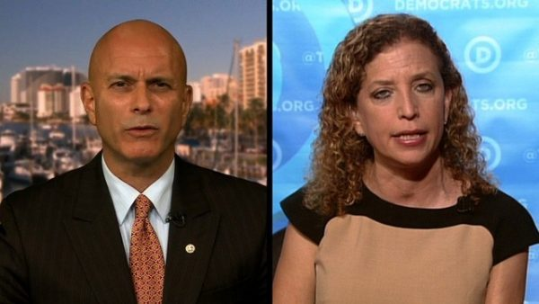 Tim Canova and Debbie Wasserman Schultz