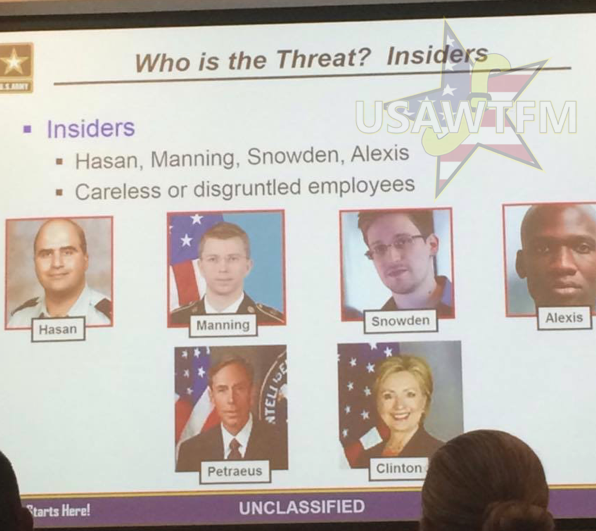 Army Training Slide Lists Clinton as 'Insider Threat' Alongside Mass Shooters