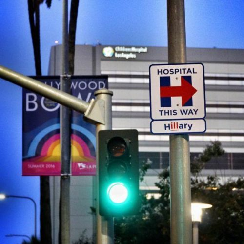 Hillary's Health Street Art Campaign