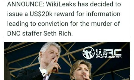 WikiLeaks Offers $20,000 Reward for Information on Murdered DNC Staffer Seth Rich