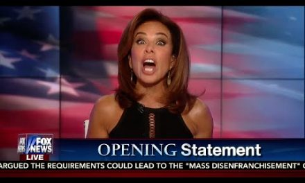 Judge Jeanine Pirro Rips Hillary Clinton, Teaches Her What (C) Stands For