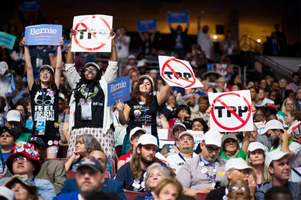 Sander Supporters at the DNC