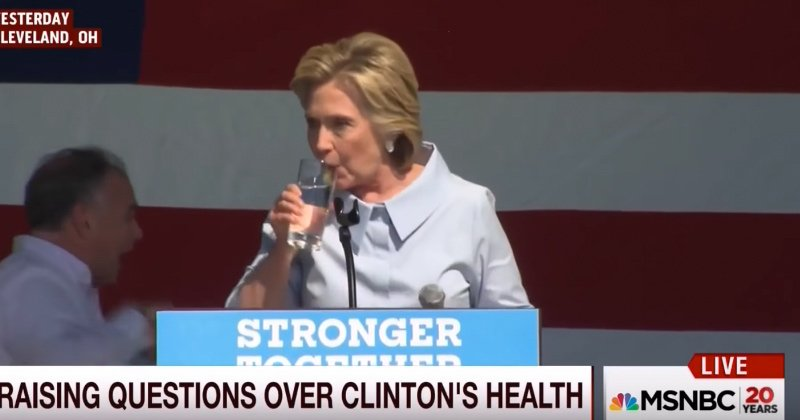 Sick Hillary Clinton Spits Up Yellowish Substance on Live Television