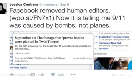 Mainstream Journalists Mad at Facebook Over 9/11 Truth