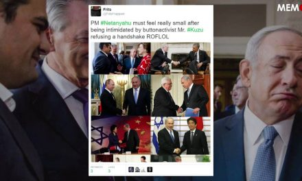 Dutch MP refuses to shake hands with Benjamin Netanyahu