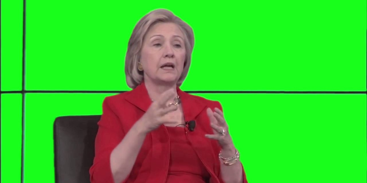 Is Hillary Clinton Faking Speeches With A Green Screen?
