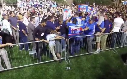 Protester With 'Bill Clinton is a Rapist' Sign Assaulted As Violent Mob Chants 'Hillary!'