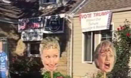 New York Home Skips the 'Trumpkin,' Creates Full on Clinton Haunted House